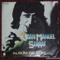 Discos de vinilo: JOAN MANUEL SERRAT (MEDITERRANEO / POEMA DE AMOR / LA SAETA / TU NOMBRE ME SABE A YERBA) EP 1981. Lote 182156908