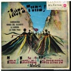 Discos de vinilo: TUNA DE LA FACULTADA DE VETERINARIA DE MADRID - CARRASCOSA / RONDA DEL SILBIDITO +2 - EP 1962. Lote 182205210