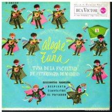 Disques de vinyle: TUNA DE LA FACULTADA DE VETERINARIA DE MADRID - ESTUDIANTINA MADRILEÑA / DESPIERTA +2 - EP 1962. Lote 182205391
