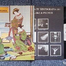 Discos de vinilo: EMERSON, LAKE & PALMER. THE BEST OF. L.P. EDITADO POR ARIOLA I-202933. SPAIN. AÑO 80. Lote 182205495