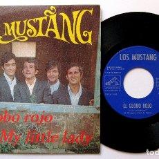 Discos de vinilo: LOS MUSTANG - EL GLOBO ROJO / MY LITTLE LADY - SINGLE LA VOZ DE SU AMO 1968 BPY. Lote 182206253
