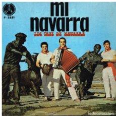 Discos de vinilo: LOS TRES DE NAVARRA - MI NAVARRA - ALEGRIA Y HUMOR / HOMENAJE A LOS HERMANOS +2 - EP 1974. Lote 182220351