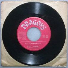 Discos de vinilo: SERGE LEBRASSE ET SES YANKEES. MO ENE HIPPIE DANS L'AGE/ SEGA LE PREMIER JANVIER. DRAGONS MADAGASCAR. Lote 182228587