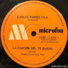 Discos de vinilo: TRES SENCILLOS ARGENTINOS DE CARLOS TORRES VILA. Lote 112569851