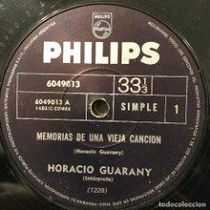 Discos de vinilo: DOS SENCILLOS ARGENTINOS DE HORACIO GUARANY. Lote 112568907