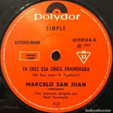 Discos de vinilo: SENCILLO ARGENTINO DE MARCELO SAN JUAN AÑO 1973. Lote 112571735