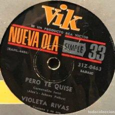 Discos de vinilo: SENCILLO ARGENTINO DE VIOLETA RIVAS AÑO 1964. Lote 122153115