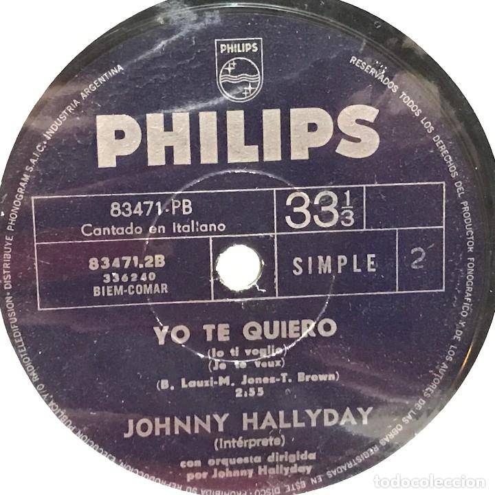 Discos de vinilo: Tres sencillos argentinos de Johnny Hallyday sello Philips - Foto 5 - 152830418