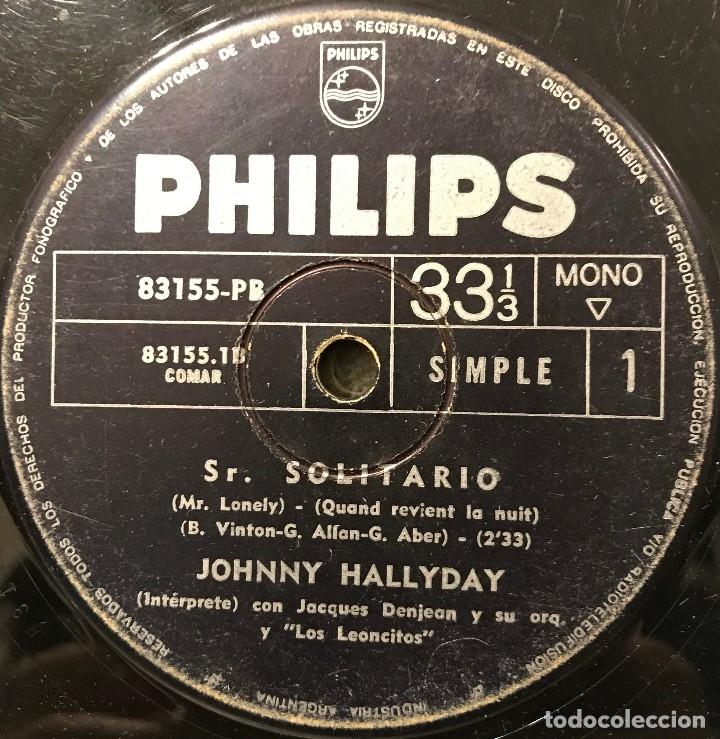 TRES SENCILLOS ARGENTINOS DE JOHNNY HALLYDAY SELLO PHILIPS (Música - Discos - Singles Vinilo - Canción Francesa e Italiana)