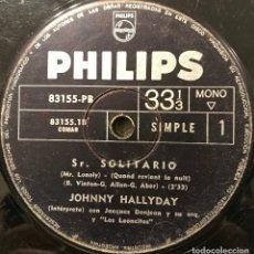 Discos de vinilo: TRES SENCILLOS ARGENTINOS DE JOHNNY HALLYDAY SELLO PHILIPS. Lote 152830418