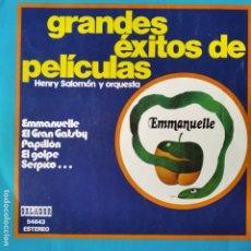 Discos de vinilo: GRANDES EXITOS DE PELICULAS, HENRY SALOMON Y SU GRAN ORQUESTA - LP 1975. Lote 182242316