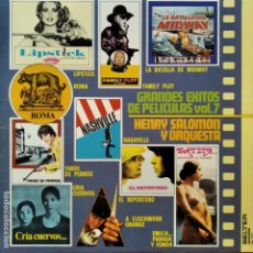 Discos de vinilo: GRANDES EXITOS DE PELICULAS VOL.7, HENRY SALOMON Y SU GRAN ORQUESTA - LP 1977. Lote 182242427