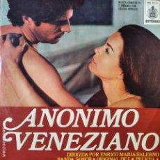 Discos de vinilo: ANONIMO VENECIANO, STELVIO CIPRIANI - BANDA SONORA ORIGINAL LP 1971. Lote 182242558