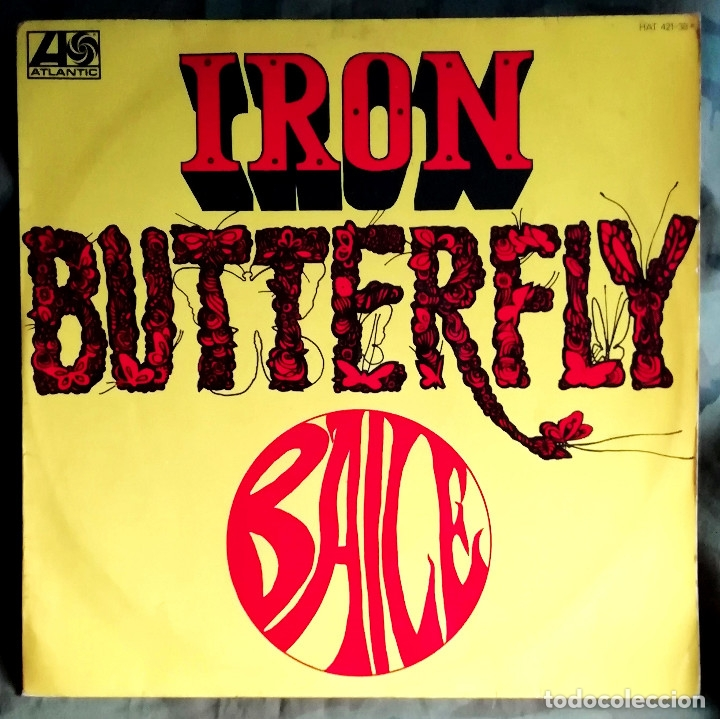 IRON BUTTERFLY – BAILE LP, SPAIN 1969 PSYCHEDELIC ROCK (Música - Discos - LP Vinilo - Pop - Rock Extranjero de los 50 y 60)