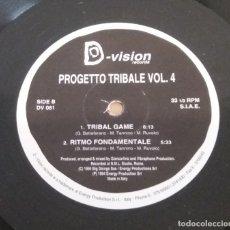 Discos de vinilo: PROGETTO TRIBALE / VOLUME 4 / MAXI-SINGLE 12 INCH. Lote 182245057