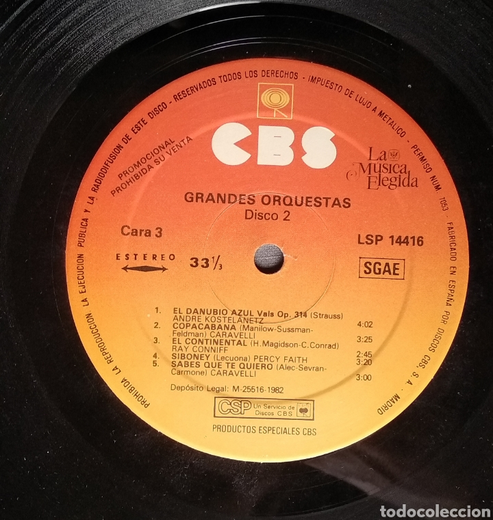 Discos de vinilo: LA MUSICA ELEGIDA-GRANDES ORQUESTAS - Foto 18 - 182248763