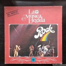 Discos de vinilo: LA MUSICA ELEGIDA-EL ROCK---4 LPS Y LIBRO DE 94 PAGS. Lote 182256576