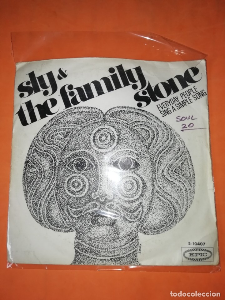 SLY & THE FAMILY STONE. EVERYDAY PEOPLE. SING A SIMPLE SONG. EPIC 1969 (Música - Discos - Singles Vinilo - Funk, Soul y Black Music)