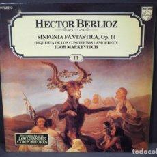 Discos de vinilo: HECTOR BERLIOZ. SINFONIA FANTASTICA. OP. 14. SALVAT. 1983. Lote 182260488