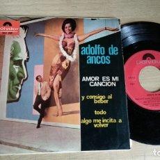 Discos de vinilo: EP-ADOLFO DE ANCOS-AMOR ES MI CANCION-1967-SPAIN-. Lote 182261083
