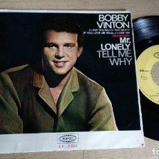 Discos de vinilo: EP-BOBBY VINTON-CANTA EN ESPAÑOL-MR.LONELY-1965-SPAIN-. Lote 182261330