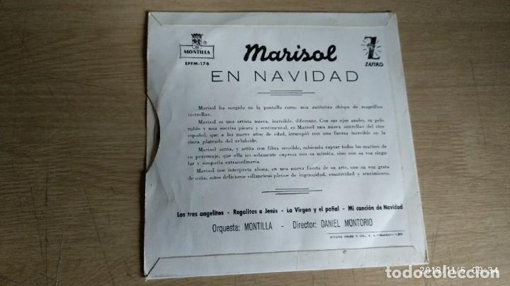 Discos de vinilo: EP-MARISOL-EN NAVIDAD-1960-SPAIN- - Foto 2 - 182261540