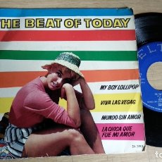 Discos de vinilo: EP-THE BEAT OF TODAY-LAURA LEE,HAL PRINCE,TONY STEVEN,DEREK PLAYER-1964-SPAIN-. Lote 182262936