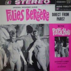 Discos de vinilo: PATACHOU LP SELLO AF EDITADO EN USA DEL MUSICAL DE BROADWAY FOLIES BERGERE. Lote 182265925