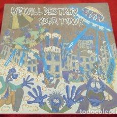 Discos de vinilo: SEMPREFRESKI / MERRYGOROUND – WE WILL DESTROY YOUR TOWN - EP 8 TEMAS - PUNK. Lote 182267390