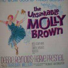 Discos de vinilo: DEBBIE REYNOLDS BANDA SONORA DE LA PELÍCULA THE UNSINKABLE MOLLY BROWN LP SELLO MGM EDITADO EN USA.. Lote 182267743