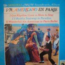 Discos de vinilo: BANDA SONORA DE LA PELÍCULA UN AMERICANO EN PARÍS LP SELLO MGM EDITADO EN ESPAÑA AÑO 1966. Lote 182270788