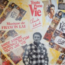 Discos de vinilo: BANDA SONORA DE LA PELÍCULA TOUTE UNE VIE LP SELLO BASF AÑO 1975, MÚSICA: FRANCIS LAI.. Lote 182272018