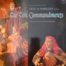 Discos de vinilo: BANDA SONORA DE LA PELÍCULA LOS DIEZ MANDAMIENTOS LP DOBLE 2 DISCOS SELLO DOT EDITADO EN USA..... Lote 182273177