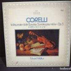 Discos de vinilo: CORELLI. EDUARD MELKUS. VIOLINSONATEN OP. 5. ARCHIV PRODUKTION. 1972. Lote 182273900