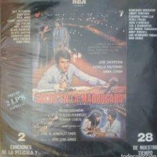 Discos de vinilo: BANDA SONORA DE LA PELÍCULA SOLOS EN LA MADRUGADA LP DOBLE 2 DISCOS SELLO RCA EDITADO EN ESPAÑA.... Lote 182274158