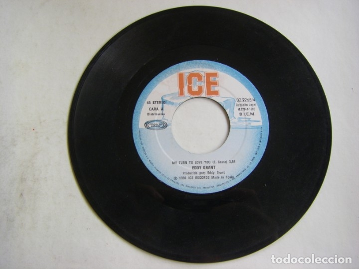 Discos de vinilo: Eddy Grant-My Turn To Love You , ICE, Movieplay 02.2265/4 - Foto 3 - 182286500
