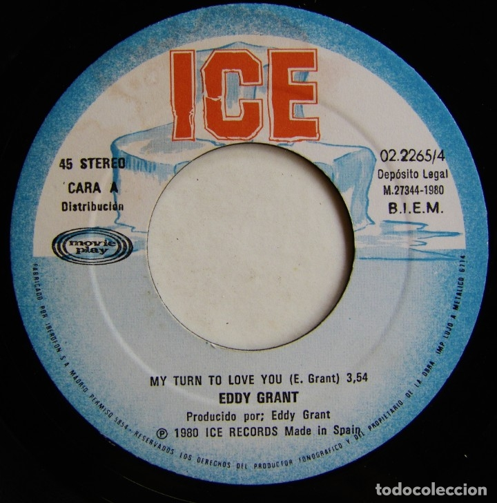 Discos de vinilo: Eddy Grant-My Turn To Love You , ICE, Movieplay 02.2265/4 - Foto 4 - 182286500