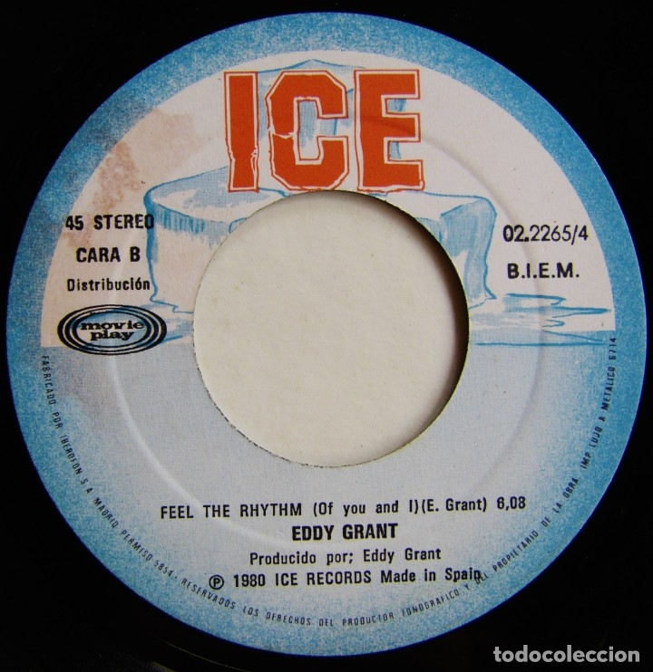 Discos de vinilo: Eddy Grant-My Turn To Love You , ICE, Movieplay 02.2265/4 - Foto 6 - 182286500