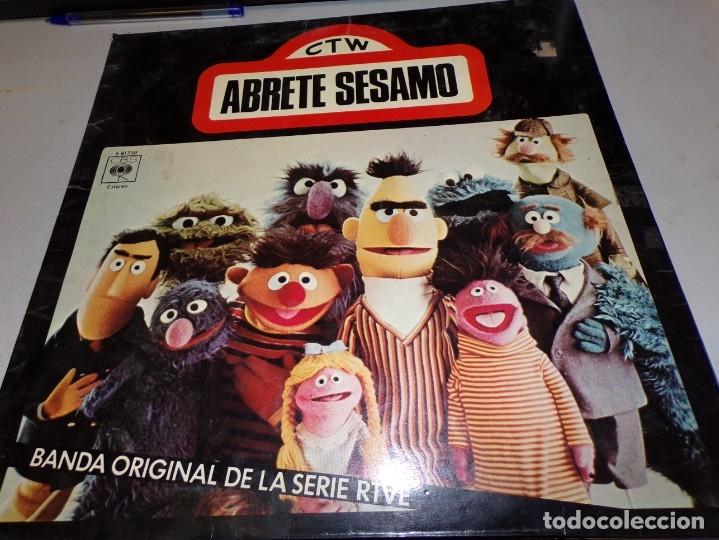 DISCO CTW-ABRETE SESAMO -BANDA ORIGINAL DE LA SERIE RTVE-CBS-MADRID- 1976 (Música - Discos - Singles Vinilo - Música Infantil)