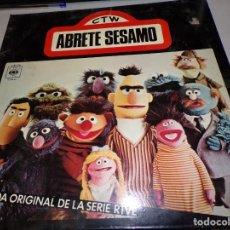 Discos de vinilo: DISCO CTW-ABRETE SESAMO -BANDA ORIGINAL DE LA SERIE RTVE-CBS-MADRID- 1976. Lote 182304302
