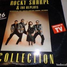 Discos de vinilo: LP DOBLE : ROCKY SHARPE & THE REPLAYS - COLLECTION - 26 HITS + MEGAMIX. Lote 182313431