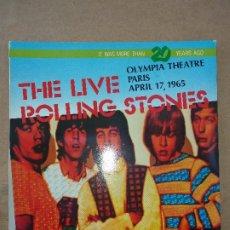 Discos de vinilo: THE LIVE ROLLING STONES. OLYMPIA THEATRE PARIS APRIL 17, 1965. BULLDOG RECORDS, BG LP 011, MADE ITAL. Lote 182313593