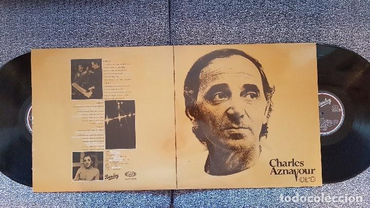 CHARLES AZNAVOUR. ORO. DOBLE ALBUM CANTADO EN ESPAÑOL. EDITADO POR MOVIEPLAY. AÑO 1982. SPAIN (Música - Discos - LP Vinilo - Canción Francesa e Italiana)