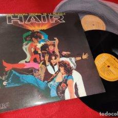 Discos de vinilo: HAIR BSO OST 2LP 1979 RCA GATEFOLD SPAIN ESPAÑA. Lote 182332992