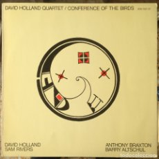 Discos de vinilo: DAVID HOLLAND QUARTET - CONFERENCE OF THE BIRDS - LP - 1973 ECM RECORDS/EDIGSA - ECM 1027-ST. Lote 182334831