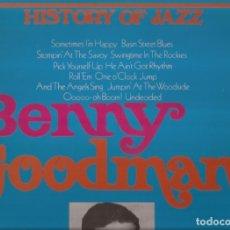Discos de vinilo: LP BENNY GOODMAN HISTORY OF JAZZ 1935/39 JOKER. Lote 182348558
