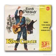 Discos de vinilo: ELVIS PRESLEY WITH THE JORDANAIRES - KING CREOLE (EL BARRIO CONTRA MI). Lote 182358817