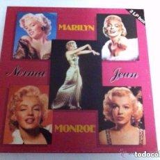 Discos de vinilo: MARILYN MONROE - 3 DISCOS- NUEVOS. Lote 182374902