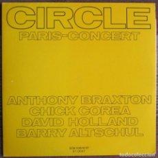 Discos de vinilo: CIRCLE PARIS CONCERT (BRAXTON, COREA, HOLLAND ...) - 2 LP - 1980 ECM/EDIGSA - ECM 1018/19 61-0047. Lote 182377281