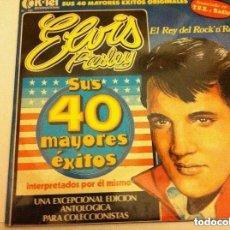 Discos de vinilo: ELVIS PRESLEY (40 MAYORES ÉXITOS)- 2 DISCOS. Lote 182377828